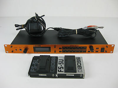 BOSS GX-700 GX 700 Guitar Effects Processor + 2 Pedals & Cable