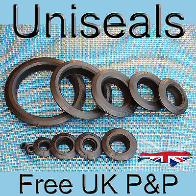 """Uniseals from 99p 3/16"""" - 4"""" inch Koi pond tank connector bulkhead hydroponics"""