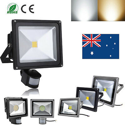 10W 20W 30W 50W LED Floodlights Warm Cool White PIR Motion Sensor Flood Light