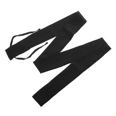 Cotton Cloth Fishing Rod Pole Cover Protector Sleeve Sock Pouch Bag Jacket Black