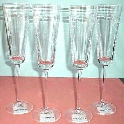 Wedgwood Sloane Square Champagne Flute(s) Set of 4 Crystal Germany New