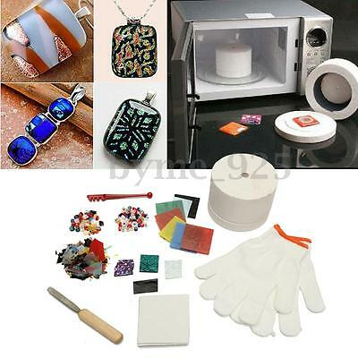 10 pcs/Set Stained Glass Fusing Supplies Microwave Kiln Kit Tool for Jewellery