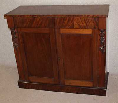 Good Carved 1920's Mahogany Chiffonier / Sideboard with Drawer