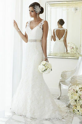 New Tulle White/Ivory Wedding dress Bridal Gown Custom Size 4 6 8 10 12 14 16+