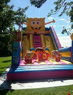 Commercial inflatable slide business complete with 58plate ford transit Luton