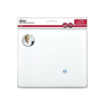 SPEEDLINK Notary Soft Touch Leather Style Mousepad, White SL-6243-LWT