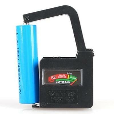 Handheld Button Cell Battery Volt Tester Checker For 9V 1.5V AA AAA C D 18650