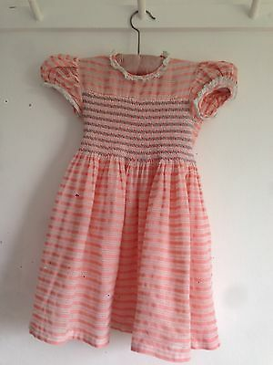 Vintage Child's Dress With Smocking 1950's/60's