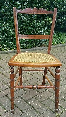 Antique Small Angel Carved Bedroom Hall Chair