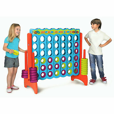 Feber Mega 4 in Line Garden Outdoor Game for Kids - connect 4 in a row