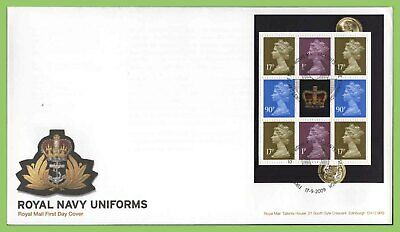 G.B. 2009 Navy Uniforms booklet pane u/a  Royal Mail First Day Cover, Tallents