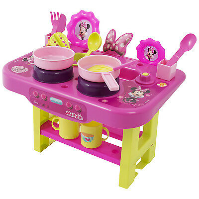 Disney Minnie Mouse My First Kitchen Playset Kids Cook Play Hob Lunch Cooker Set