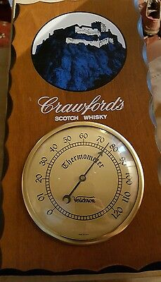Vtg CRAWFORD'S SCOTCH WHISKY THERMOMETER VERICHRON CR-34 ADVERTISING NOS IN BOX