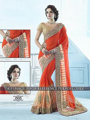 Indian Party Wear Bollywood Sari New creation Bridal Wedding Pakistani Saree.