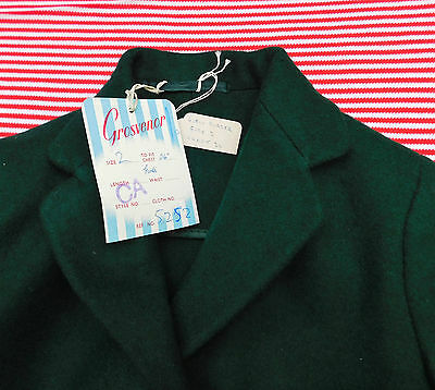 "Vintage girls blazer Bottle Green chest 24"" Grosvenor by Arthur Howard UNUSED"
