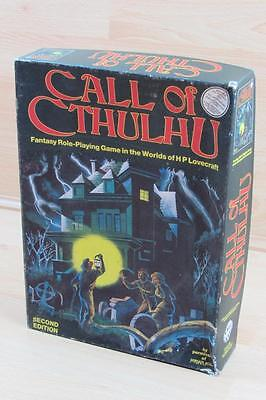 Chaosium CALL OF CTHULHU 1983 Second Edition Boxed Set Missing Dice Pieces