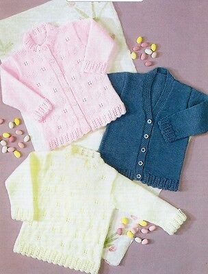 BABY Knitting Pattern Copy Sweater and CARDIGANS in various Styles 8 Ply