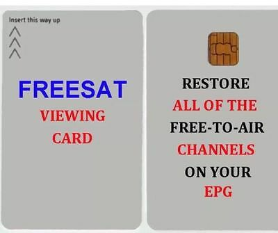 FREESAT VIEWING CARD PLUS AND HD *Quick Free Post*