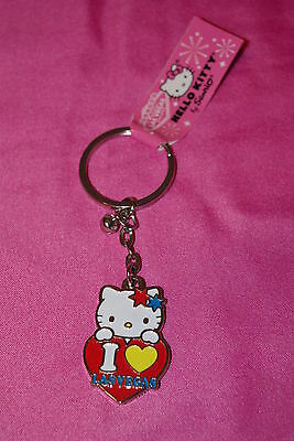 Hello Kitty I Love Las Vegas Keychain Hearts & Stars