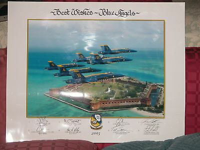 U S Navy Blue Angels 2005 Autographed Lithograph