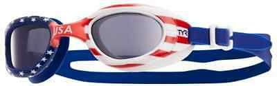 New TYR SPECIAL OPS 2.0 Polarized Swim Goggles - USA Model - RED WHITE BLUE