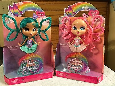 NIB Barbie Fairytopia Magic of the Rainbow Pigtail Pixies: Shimmer & Glimmer