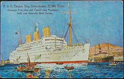 Postcard:p&o Strathaird.1932-1962. Used As A Troopship In Wwii.