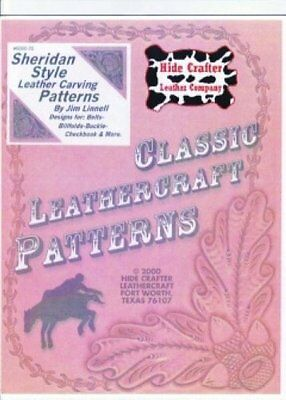 Leather craft Patterns Instructions Sheridan Style leather Carving Jim Linnell