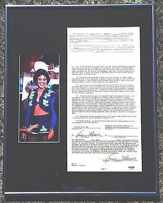 Erin Moran - Signed Contract To Star As ('joanie') In Happy Days - Psa/dna