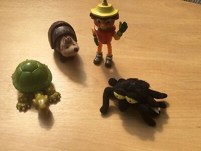 """BEN FROM BILL AND BEN Mcdonalds approx 4"""" plus tortoise spider and hedgehog"""