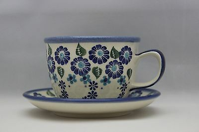 Ceramika Wiza polish pottery - Tea Set (cup and plate)