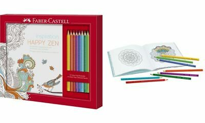 FABER-CASTELL Buntstifte Colour GRIP, Malset Happy Zen, 4005402014330