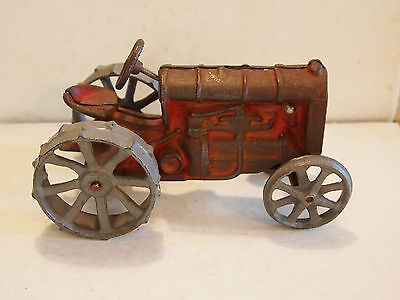 "Vintage  6"" Cast Iron Tractor - Not Sure Of Manufacturer"