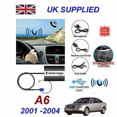 For Audi A6 Bluetooth Hands Free Phone AUX Input MP3 USB 1.0A Charger Module 8PN