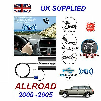 For Audi ALLROAD Bluetooth Hands Free Phone AUX Input MP3 1A USB Charger Module