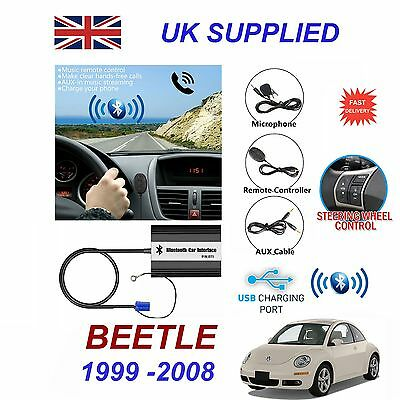 For VW BEETLE Bluetooth Hands Free Phone AUX Input MP3 1.0A USB Charger Module