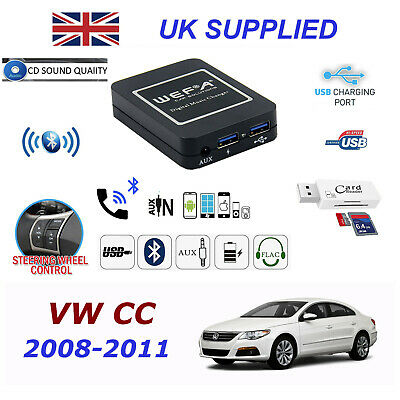 For VW PASSAT Bluetooth Hands Free Phone AUX Input MP3 1.0A USB Charger Module
