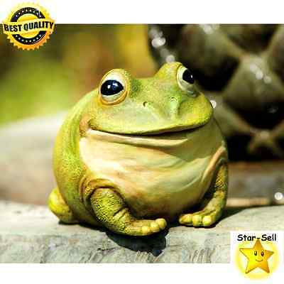 New Portly Frog Resin Yard Home Lawn Porch Garden Outdoor
