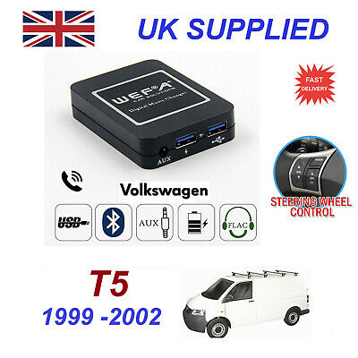 For VW T5 Bluetooth Hands Free Phone AUX Input MP3 1.0A USB Charger Module 8 Pin