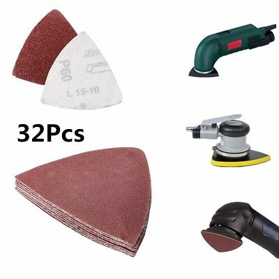 32 PCS 3-1/8'' Universal Triangular Sand Paper Sandpaper For Oscillating Tool