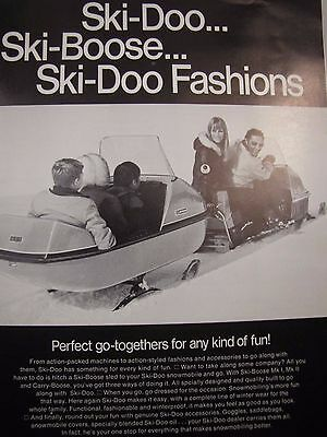 1971 SKI-Doo Sales Brochure Specification Clothing Fashion Original Snowmobiling