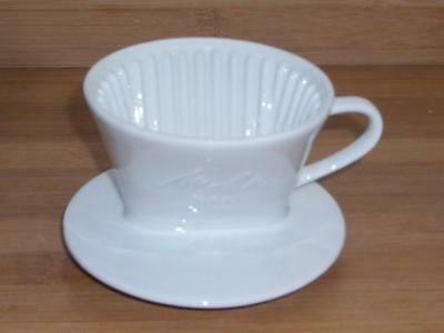 Melitta White Porcelain 100 Single Cup Coffee Cone Filter - Unused!