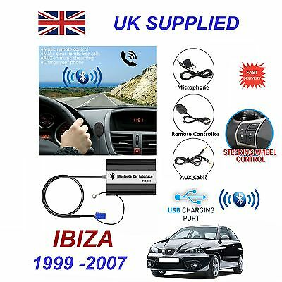 For SEAT IBIZA Bluetooth Hands Free Phone AUX Input MP3 1.0A USB Charger Module