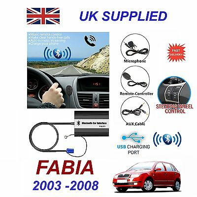 For SKODA FABIA Bluetooth Hands Free Phone AUX Input MP3 1.0A USB Charger Module