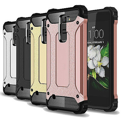 For LG Phoenix 2 (AT&T) Case Shockproof Dual-layer Hard Protective Phone Cover
