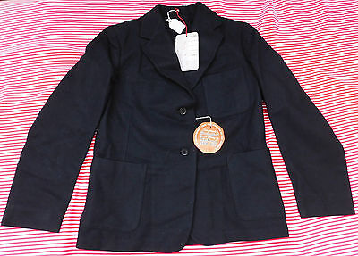 "Girls vintage black blazer UNUSED school uniform Chest 32"" 34"" 3 R's RRR 1950s"
