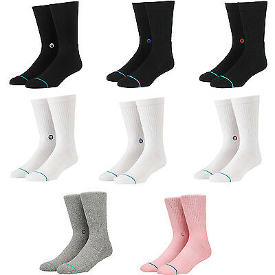 "Stance Men's ""Icon"" Classic Ribbed Crew Socks"