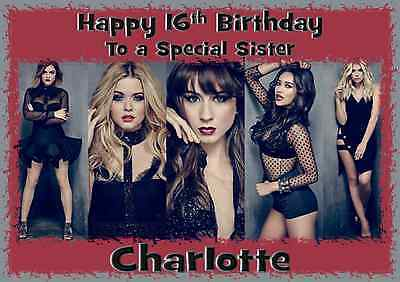 Pretty Little Liars Personalised A5 Birthday Card Mum Daughter Niece
