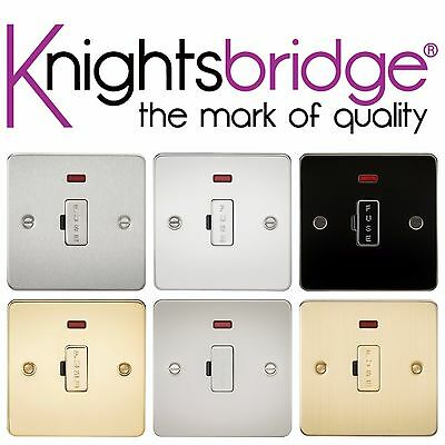 Knightsbridge Flat Plate 13A Fused Spur Fuse Cap Connection Unit with Neon Light