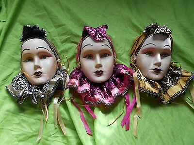 a set of 3 ceramic GYPSY women